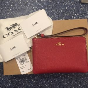 NWT Coach Red Wristlet